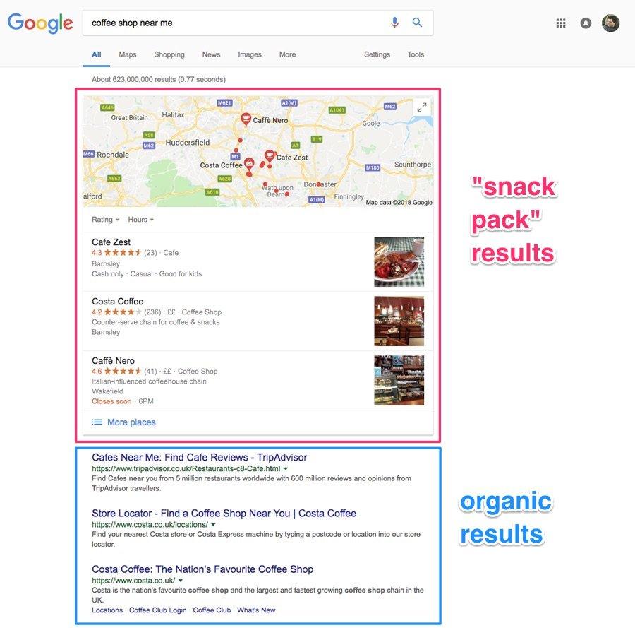 google map pack image